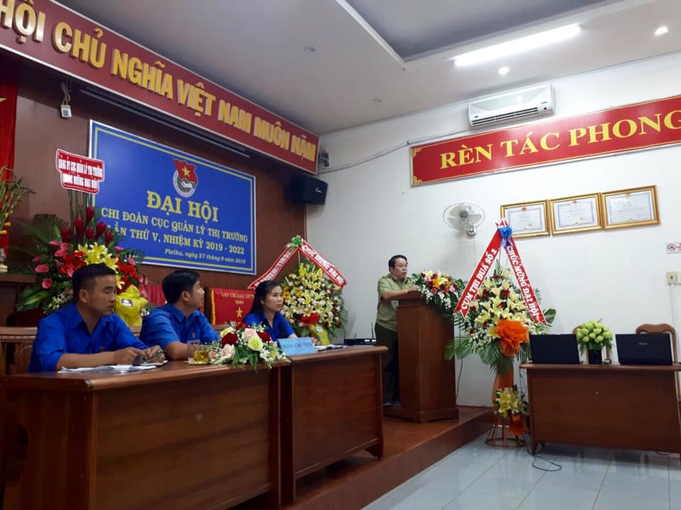 Gia Lai: Tổ chức Đại hội Chi đoàn cục QLTT tỉnh Gia Lai lần thứ V, nhiệm kỳ 2019 - 2022