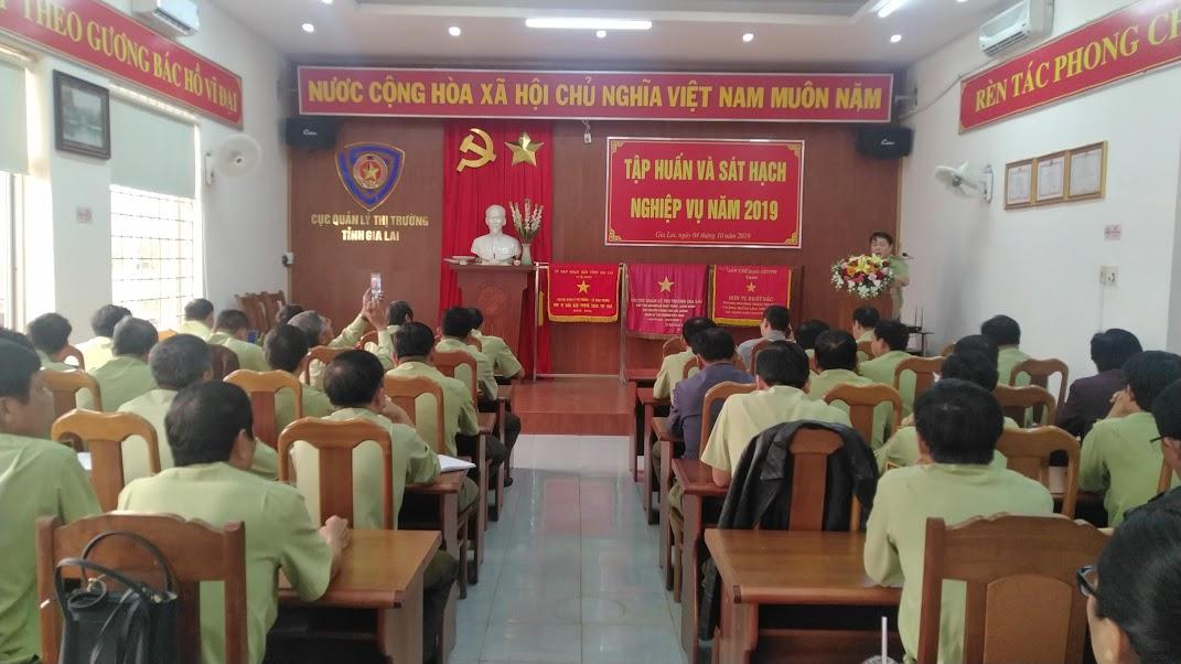 Gia Lai: Tổ chức hội nghị tập huấn và sát hạch nghiệp vụ quản lý thị trường năm 2019