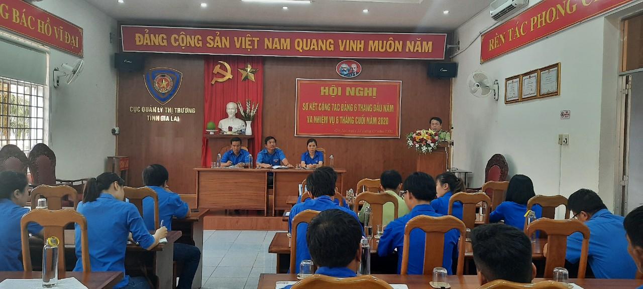 Chi đoàn Cục QLTT tỉnh Gia Lai tổ chức sơ kết 6 tháng đầu năm 2020
