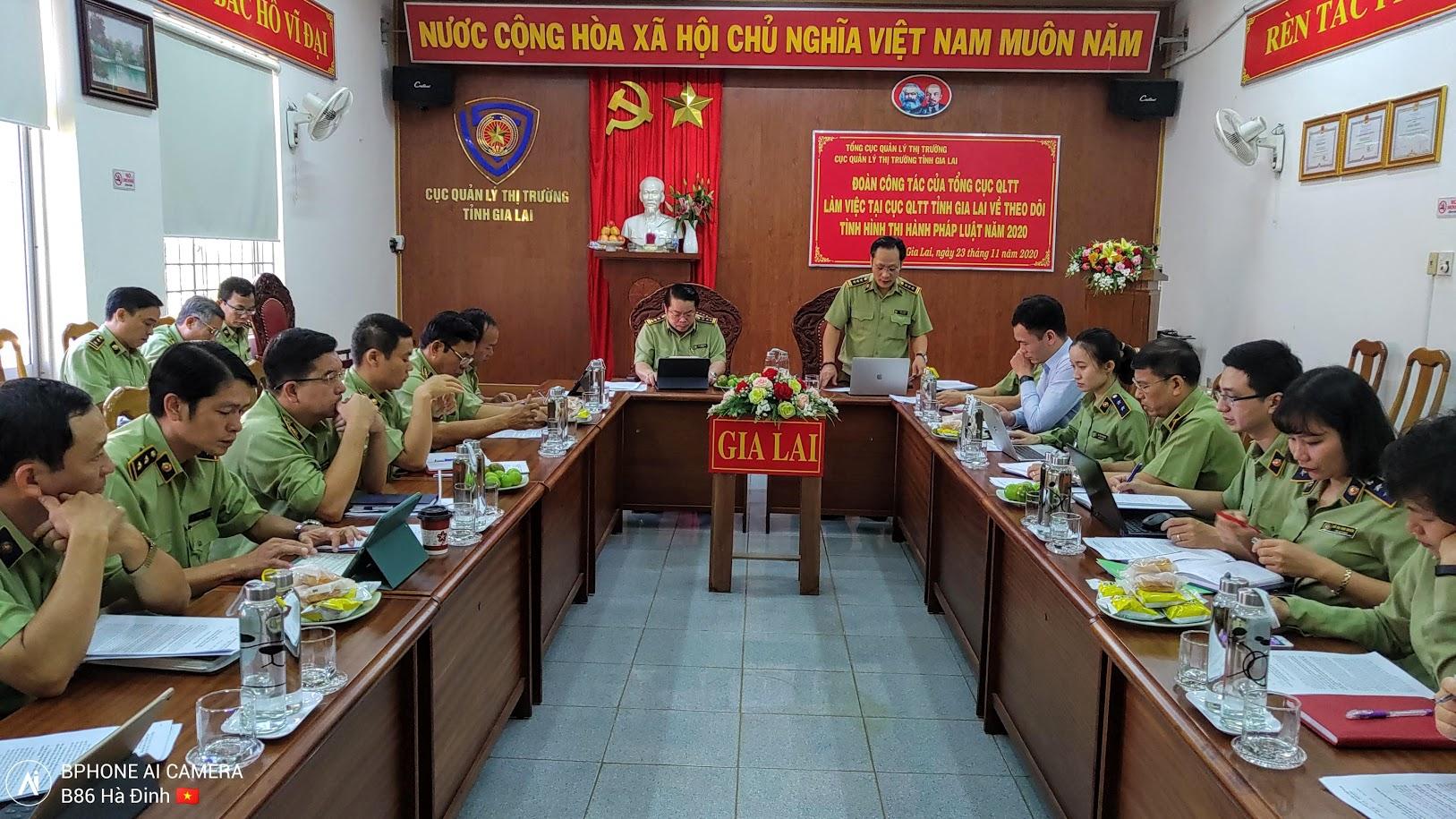 Đoàn công tác của Tổng Cục QLTT làm việc tại Cục QLTT tỉnh Gia Lai
