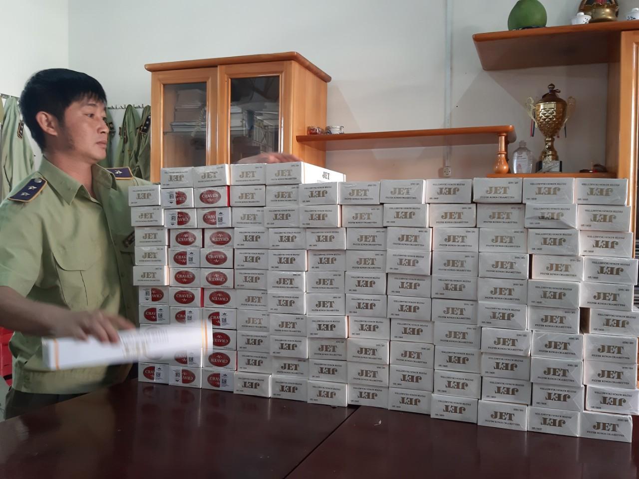 Gia Lai tịch thu 1.250 bao thuốc lá điếu nhập lậu